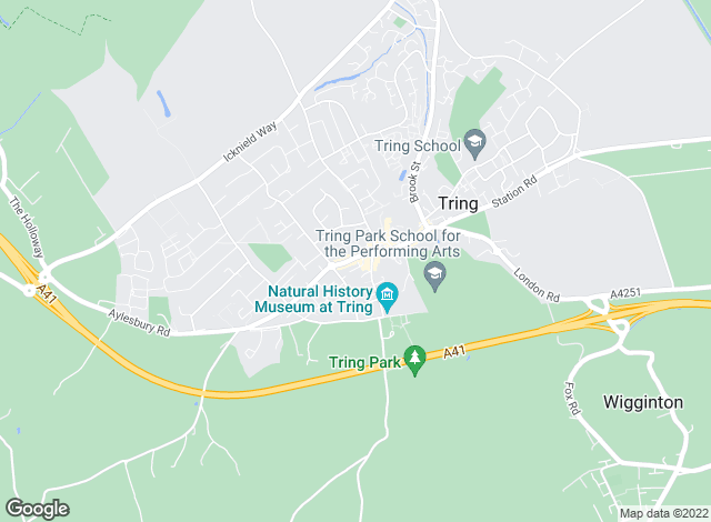 Map for Michael Anthony, Tring