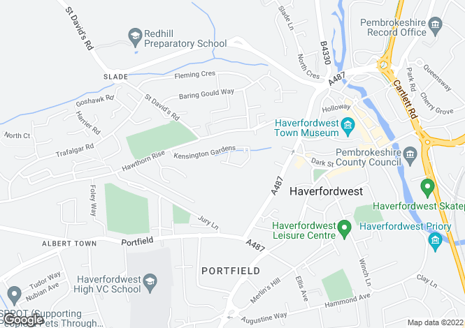 Map for 137 Kensington Gardens, City Road, Haverfordwest