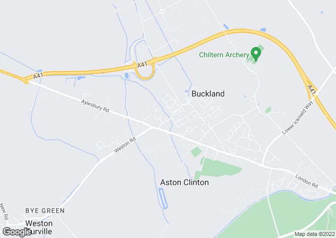 Map for 24, Brookside, Weston Turville, Bucks