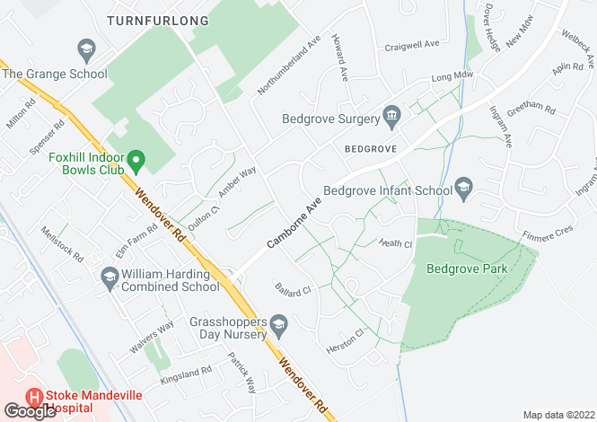 Map for Camborne Avenue, Bedgrove, Aylesbury