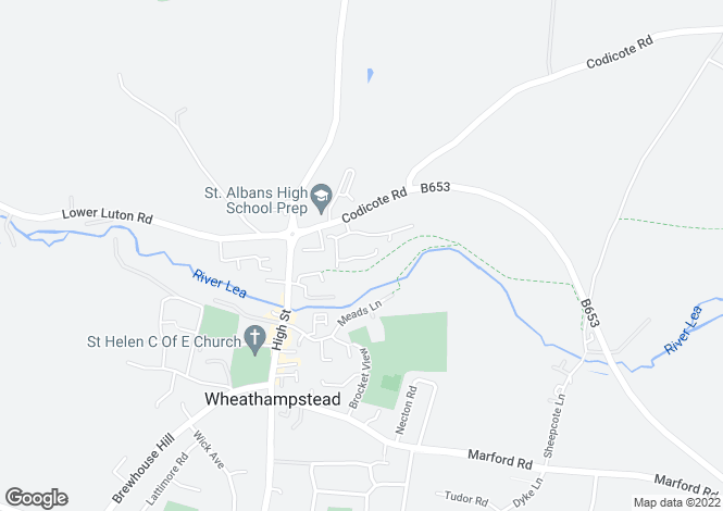 Map for Dawes Lane, Wheathampstead AL4 8FF