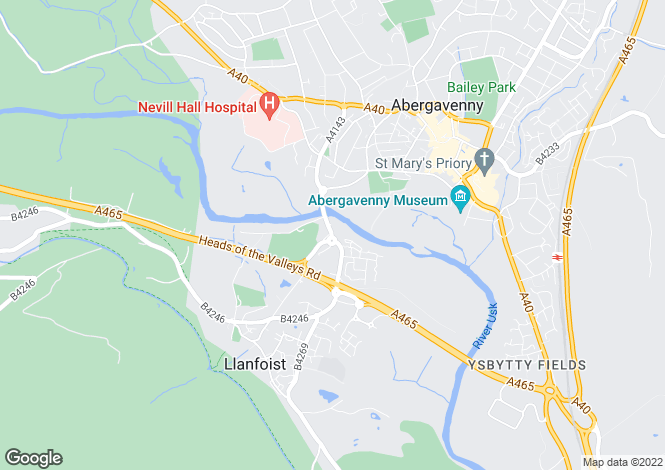 Map for CORNELL at Riverside Gardens, Merthyr Road,