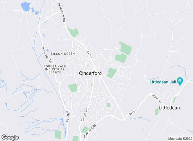 Map for Bidmead Cook, Cinderford