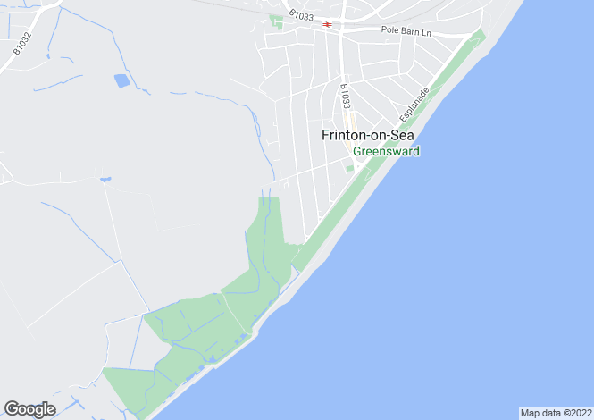 Map for Second Avenue, Frinton-on-Sea, Essex, CO13