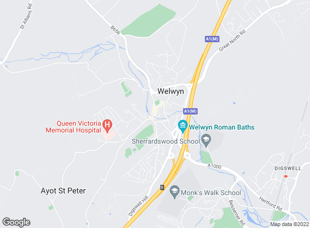 Map for Country Properties, Welwyn (Sales and Lettings)