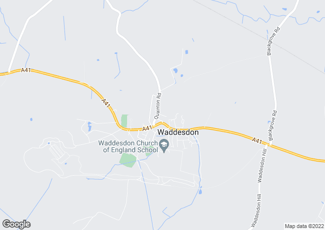 Map for New Street, Waddesdon, Aylesbury, Bucks