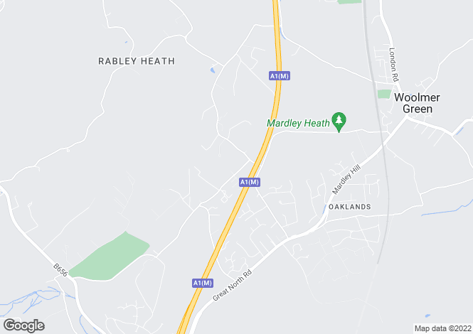 Map for Danesbury Park Road, Welwyn, Hertfordshire, AL6