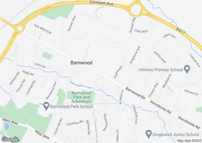 Map for Barnwood Road, Gloucester, GL4 3HW