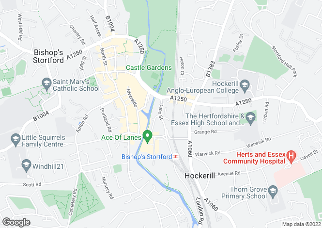 Map for Heath House, 51 Dane Street, Bishop`s Stortford, Hertfordshire, CM23 3BT