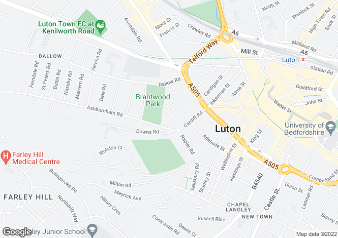Map for Grove Road,