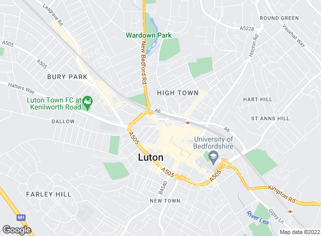 Map for Instant Lettings, Luton