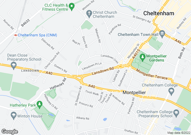 Map for Lansdown Place, Cheltenham, GL50