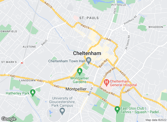 Map for Errington Smith Town and Village Properties (Residential Sales, Lettings and Property Management), Cheltenham