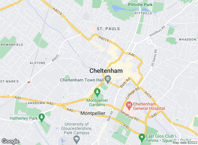 Map for Sam Ray Property, Cheltenham