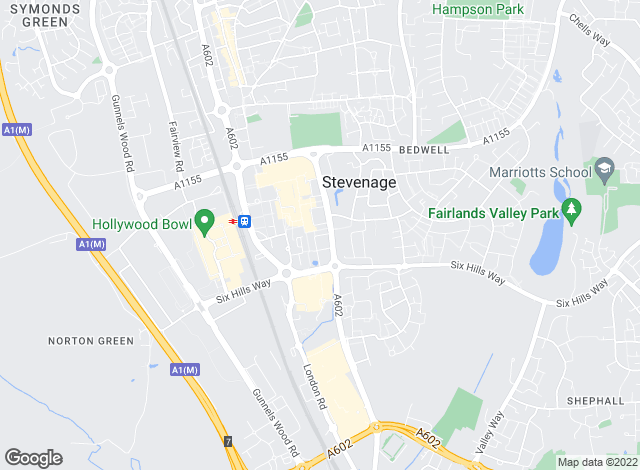 Map for Geoffrey Matthew Estates, Stevenage