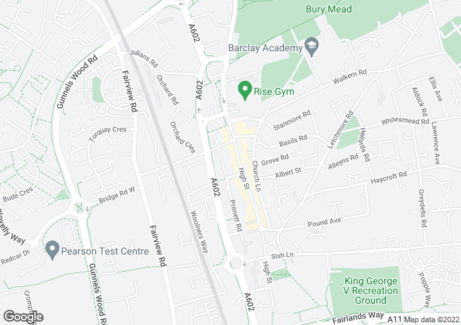 Map for Monument Court, Stevenage