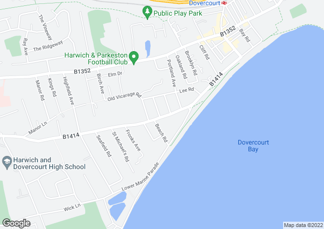Map for Fronks Road, Dovercourt, Harwich