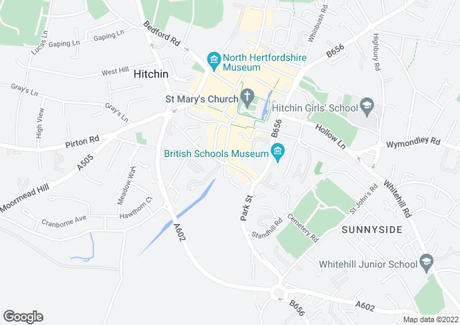 Map for Bridge Street, Hitchin