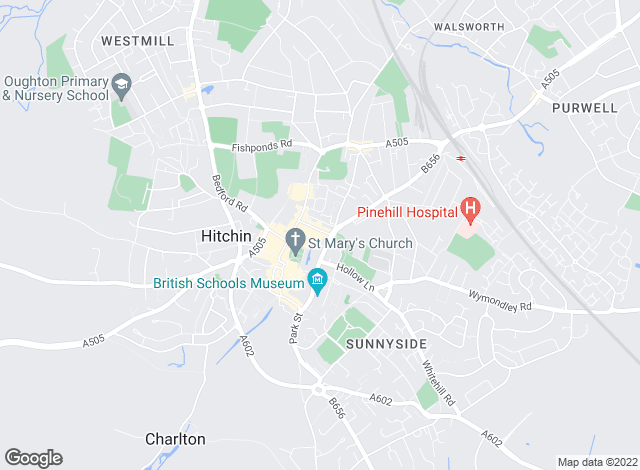 Map for Putterills, Hitchin