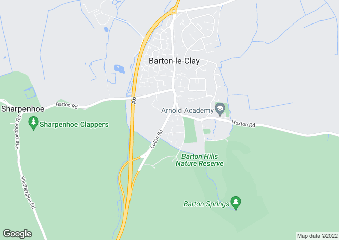 Map for Luton Road, BARTON LE CLAY, Beds