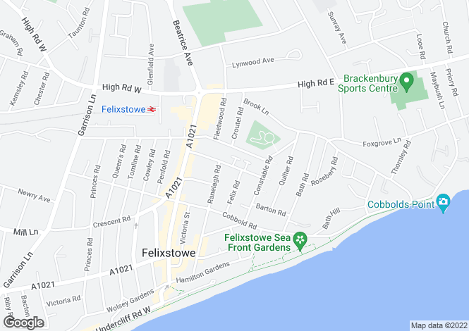 Map for Gainsborough Road,