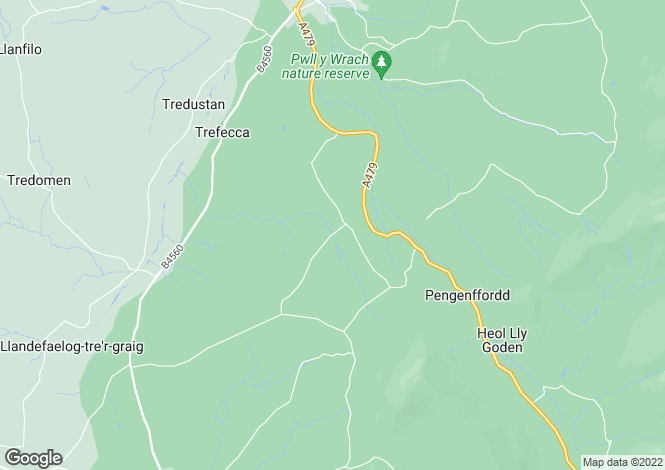 Map for Trewalkin, Talgarth, Brecon, Powys