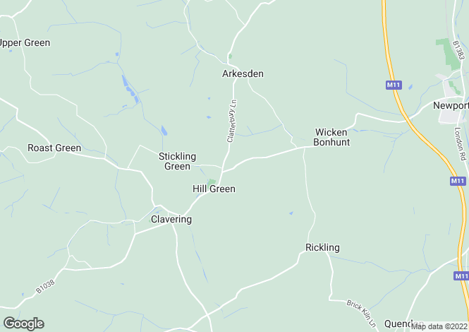 Map for Clavering, CB11, Wicken Road, Rivington