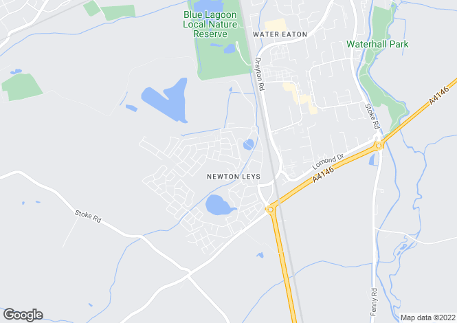 Map for Newton Leys, Milton Keynes
