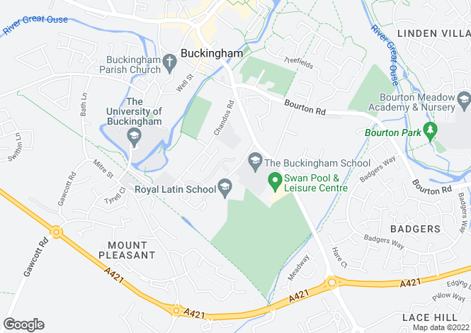 Map for Wagland Gardens, Buckingham