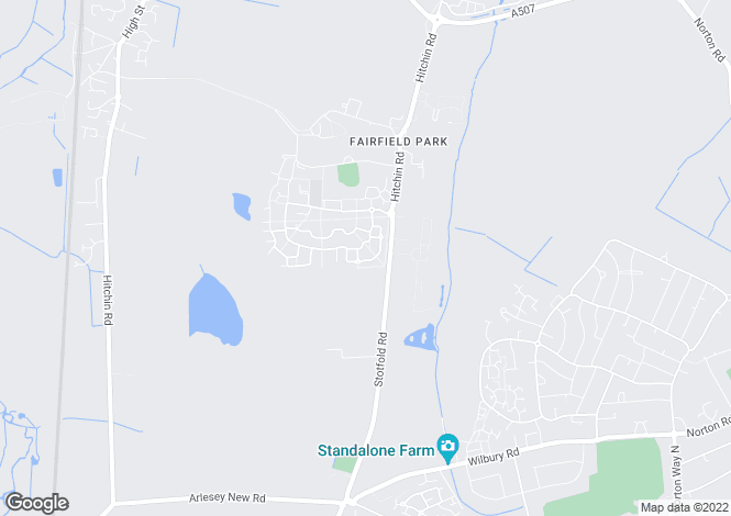 Map for Fairfield Park, Stotfold, Hertfordshire