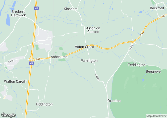 Map for Pamington, Nr Tewkesbury, GL20