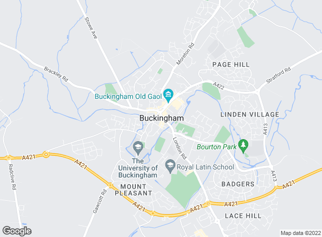 Map for Taylors Estate Agents, Buckingham