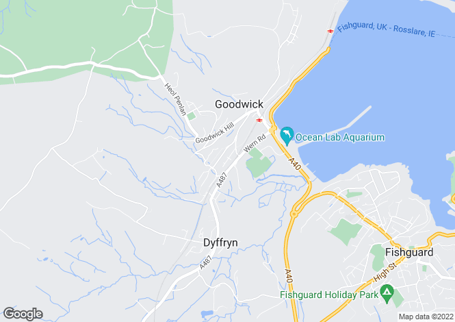 Map for Goodwick