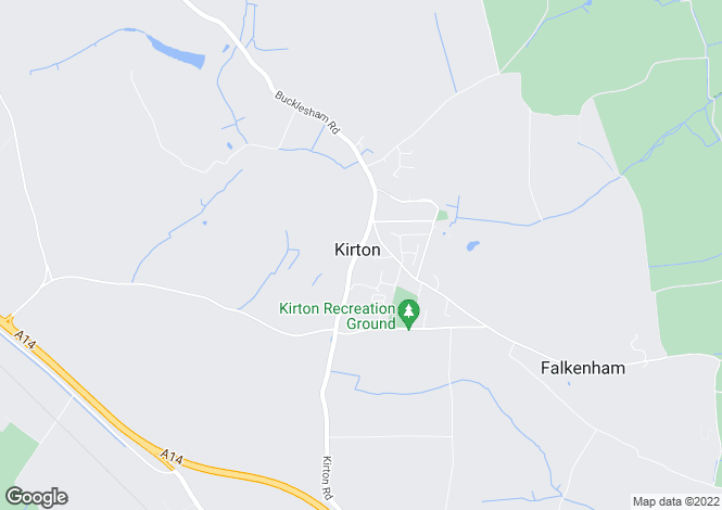 Map for Trimley Road, Kirton, Ipswich, Suffolk