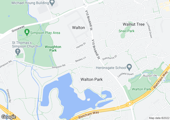 Map for Beales Lane, Walton Park
