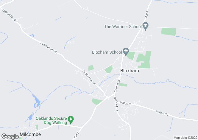 Map for Courtington Lane Bloxham