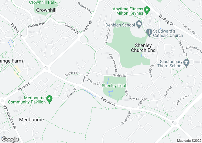 Map for Shenley Church End