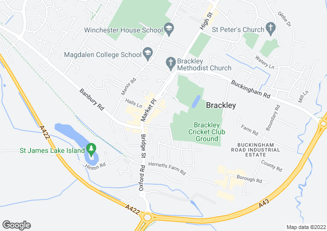 Map for 27, Burgess Square, Brackley
