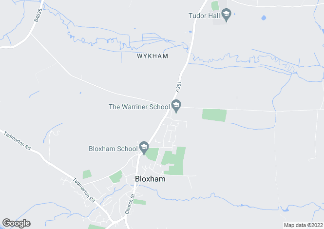 Map for Crabtree Close, Bloxham, Banbury, Oxfordshire, OX15