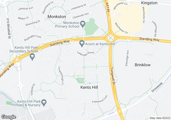 Map for Hoathly Mews, Kents Hill, Milton Keynes, Bucks