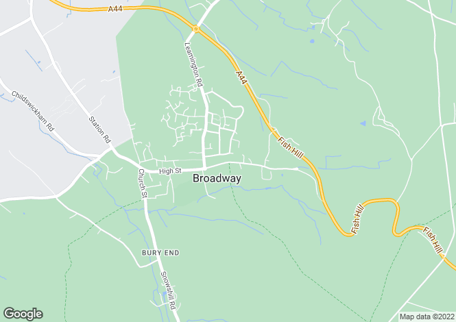 Map for Upper High Street, Broadway, Worcestershire, WR12
