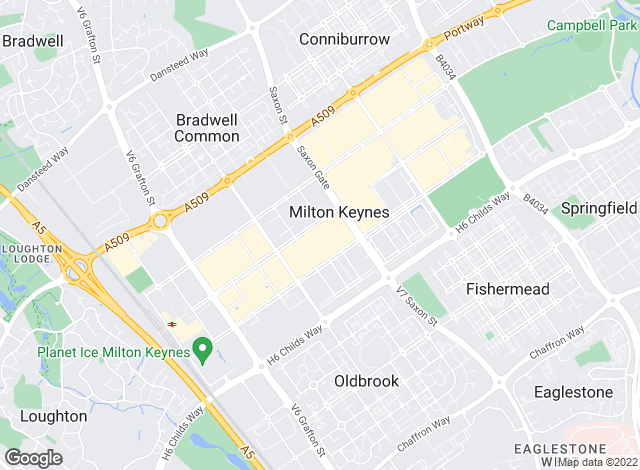 Map for Taylors Lettings, Milton Keynes