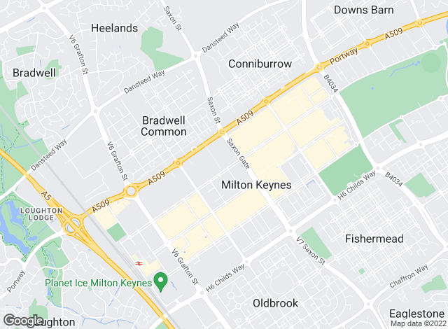 Map for Milton & Ward Ltd, Milton Keynes