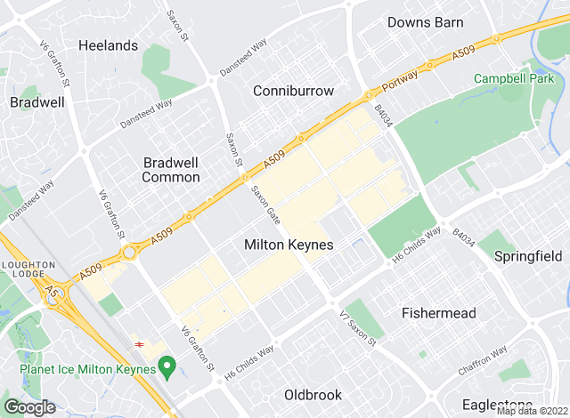 Map for Connells, Milton Keynes