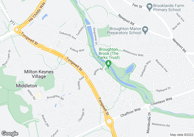 Map for Woodbury at Broughton Chase, Milton Road,