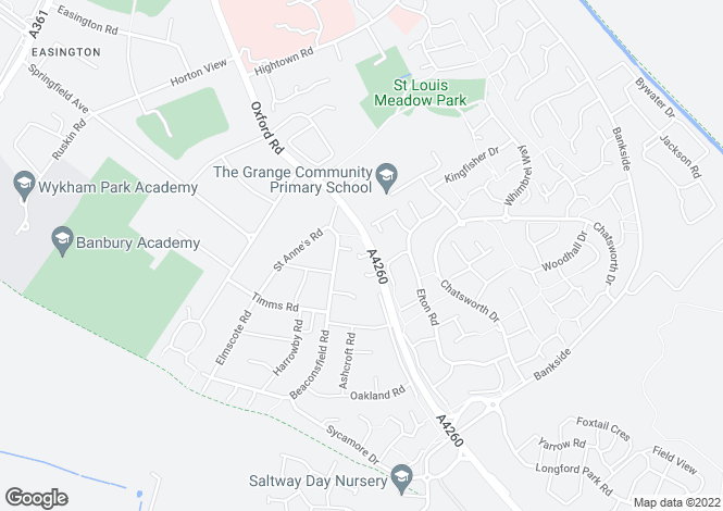 Map for Craster Court, Banbury