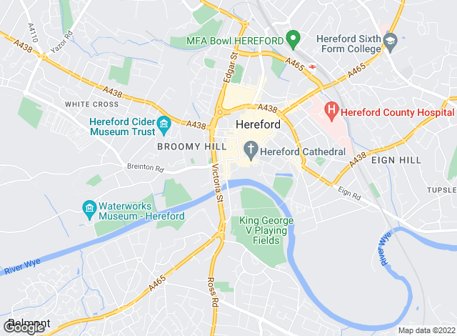 Map for Chesterton Humberts, Hereford