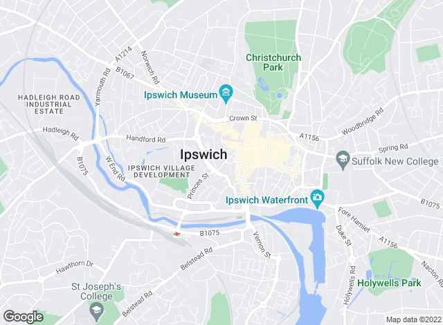 Map for Savills, Ipswich