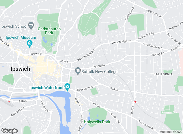 Map for Birch Estate Agents, Ipswich