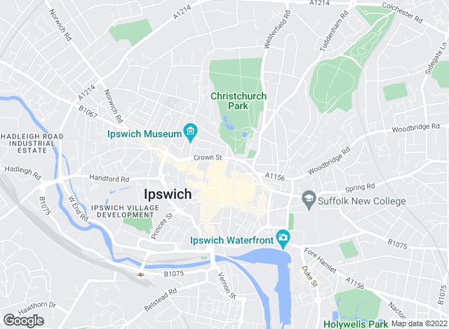 Map for Jackson-Stops & Staff, Ipswich